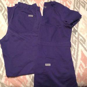 Purple Grey's Anatomy Scrubs